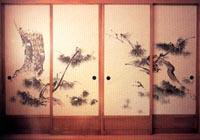 Японский интерьер Сёдзи-Фусума