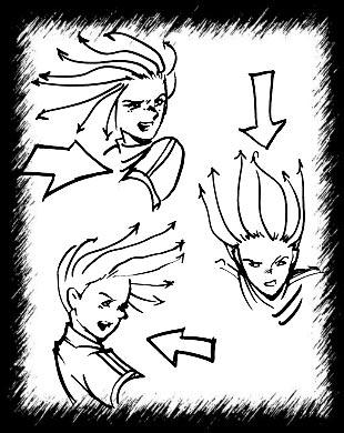 Как нарисовать длинные волосы в аниме